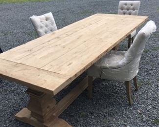 """like new """"Restoration Hardware"""" table and chairs"""
