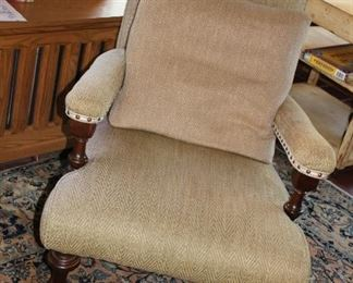 one of a pair of in the style of Ralph LaurenPlantation  chairs.