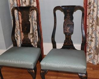 pair of chinoise side chairs