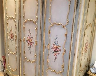 Hand painted French armoire