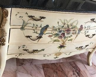 Hand painted large chest