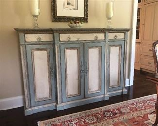 Inlaid Console table by John Richard $750