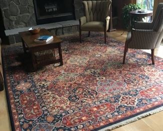 Large area rug, Stickley coffee table