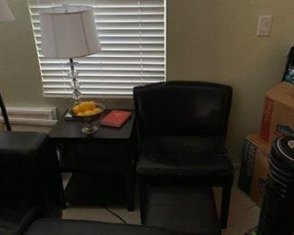 Side table, lamo, chair