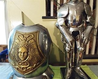 Denix of Spain replica breast plate and 2 ft tall stainless Knight  replica.