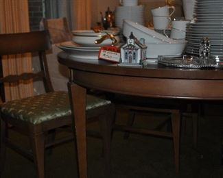 Mid century dining room table and chairs
