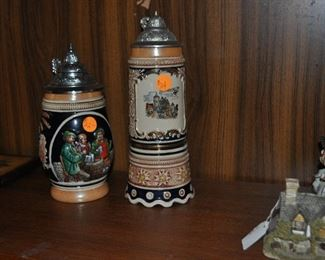 German steins. Tall one is musical.