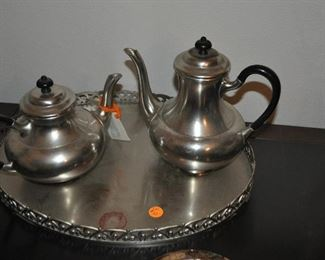 perter coffer and tea set