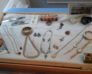 costume jewelry, vintage watches, postage stamp collectors edition and more.