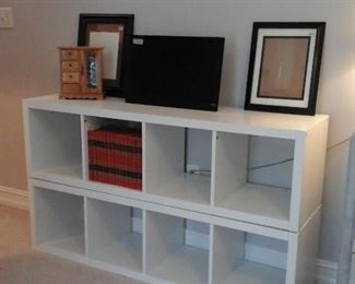 two Ikea four cube units