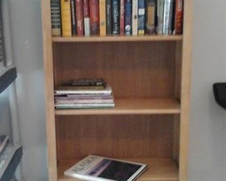 all wood bookcase