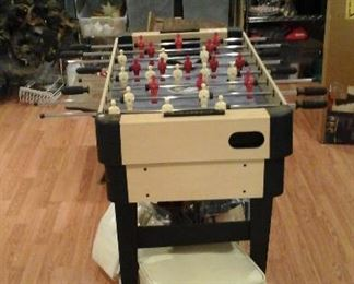 foosball table and other games