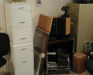 file cabinets, monitors and more
