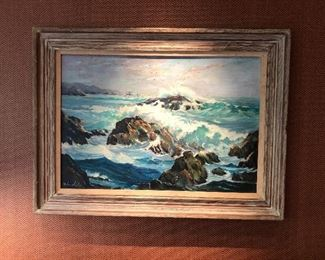 Painting by California artist,  Helen Hafer, oil on canvas. (Photo and evaluation by BC)