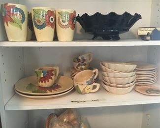 Art deco Mexican pottery