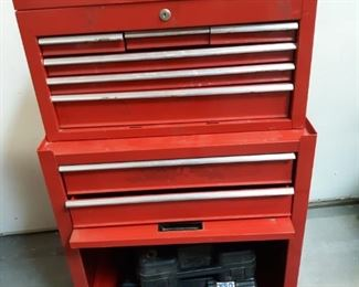 Craftsman tool chest, socket set and impact drill