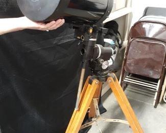 Celestron telescope and wooden tripod
