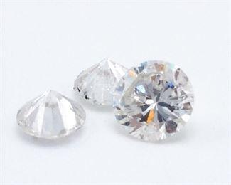 (3) Loose Diamonds ~.53 Carats Total
