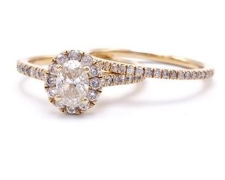 Gorgeous 1+ CT Oval Diamond Estate Ring in 14k Yellow Gold