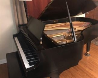 "Baldwin Model L 6'3"" black satin grand piano, excellent condition, plays and sounds great.   1994.  One owner"