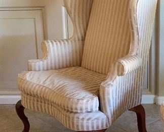 Statesville & Ross Queen Anne Wingback Chair #1148x32x32inHxWxD
