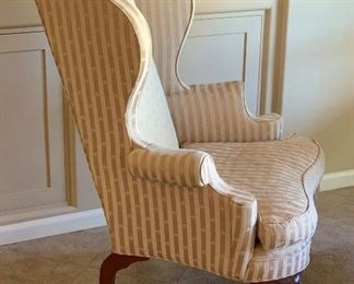Statesville & Ross Queen Anne Wingback Chair #1	48x32x32in	HxWxD