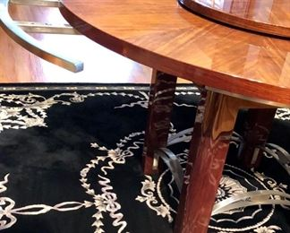 Dining table showing leaf extension