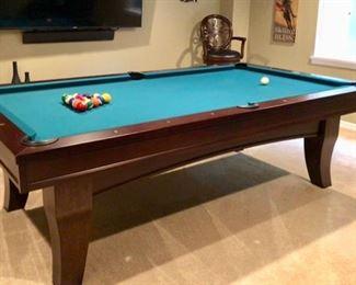 Inlaid Wood Ardosia Pool Table