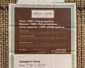 Allen + Roth Lamport Ivory Contemporary Area Rug	94in x 130in	HxD