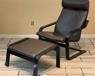 Contemporary Poang Chair & Ottoman	38x27x33in	HxWxD