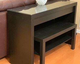 AS-IS Contemporary Compact Desk w/ BEnch Seat	31x47x16.5in	HxWxD