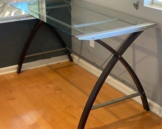 Contemporary Glass/Steel/Wood Desk	30x55x27.5in	HxWxD