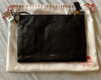 Coach Black Pebbled Leather Daily Handbag Never used
