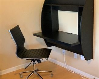 Contemporary Wall Mount Floating Desk	39.5x42.5x20in	HxWxD Black Contemporary Office Chair