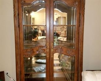 Pair of matching curio cabinets/bookcases