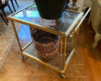 Brass and glass cart