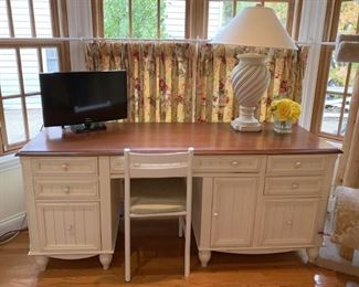 White painted French country desk