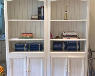 Pair of French country bookcase/cabinets