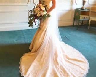 Matthew Christopher Marilyn wedding dress - size 6 - purchased 3 years ago!  $8000 retail