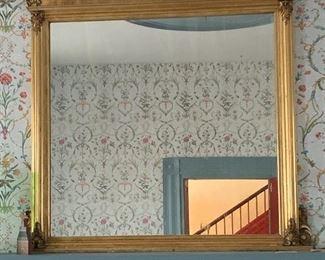 """Gold leaf mantel mirror (60""""H 58""""W)"""