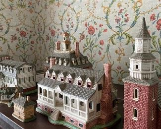 Colonial Williamsburg collection including Christiana Campbell Tavern, The Capital, Kings Arms Tavern, The Governor's Palace, and Bruton Parish Church