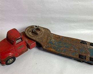 Tonka truck w/trailer for steam shovel