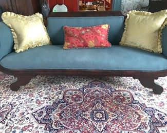 "Scrolled arm sofa (84.5"")"