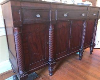 Cherry Federal sideboard with mahogany veneer