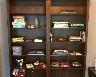 """2 separate bookcases. Each one measures 33 3/4"""" across x 13 1/2"""" deep x 81 3/4"""" tall."""