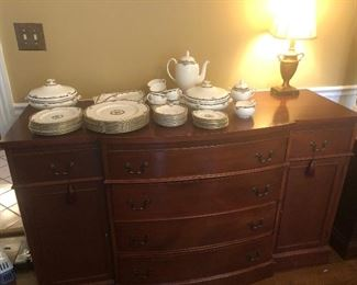 Buffet available Sunday.  Royal Albert sold.  Wedgewood available.