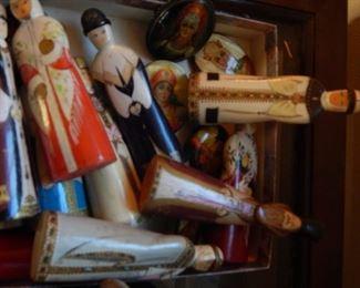 Russian wood figurines