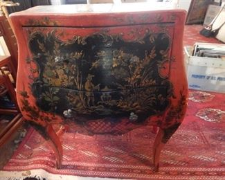 Bombay chest in antique red