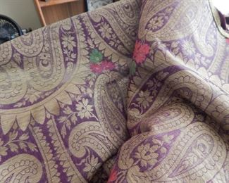 Purple and gold paisley tapestry fabric...beautiful!