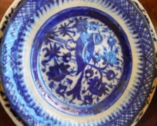 Beautiful blue and white plate.